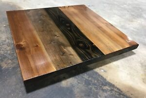 Image Is Loading Rustic Reclaimed Wood Square Table Bar Restaurant Farmhouse