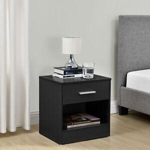 Details Sur En Casa Table De Chevet Tiroir Noir Commode Table D Appoint Rangement