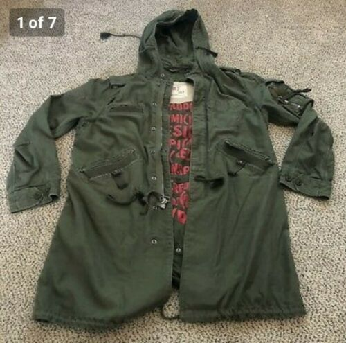 GAP PRODUCT RED MILITARY ARMY GREEN COAT M (L) LON