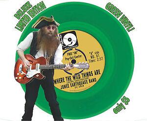 WHERE-THE-WILD-THINGS-ARE-by-Jonee-Earthquake-Band-45-7-034-GREEN-Vinyl-Garage-Punk