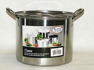Olla-De-Agua-De-Acero-Inoxidable-de-16-cuartos-de-galon-4-galones-sopa-Chili-pasta-espagueti-nota