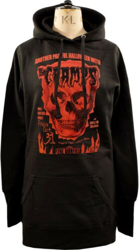 WOMENS HOODIE DRESS THE CRAMPS HALLOWEEN SKULL GIG POSTER PSYCHOBILLY GARAGE 80s
