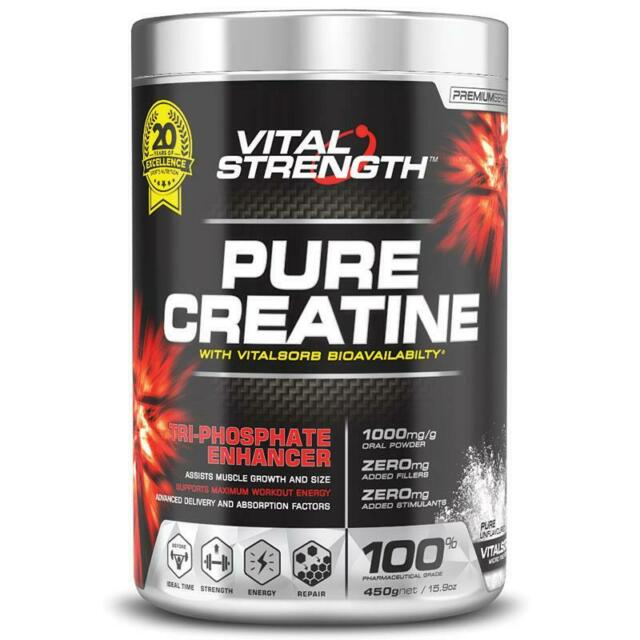 Vital Strength - Pure Creatine - 450g Net - FREE SHIP in Aust