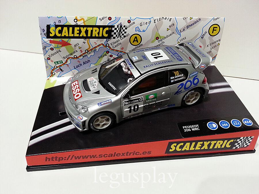 Slot SCX Scalextric 6064 Peugeot 206 WRC  V Open d'Espagne  2001 N°10