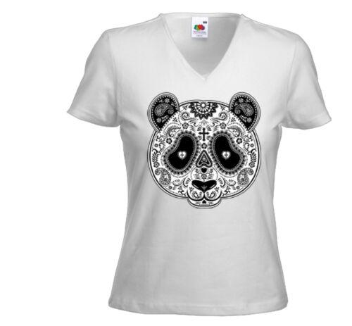 Piments t-shirt Femmes piments panda blanc sugar rockabilly vintage