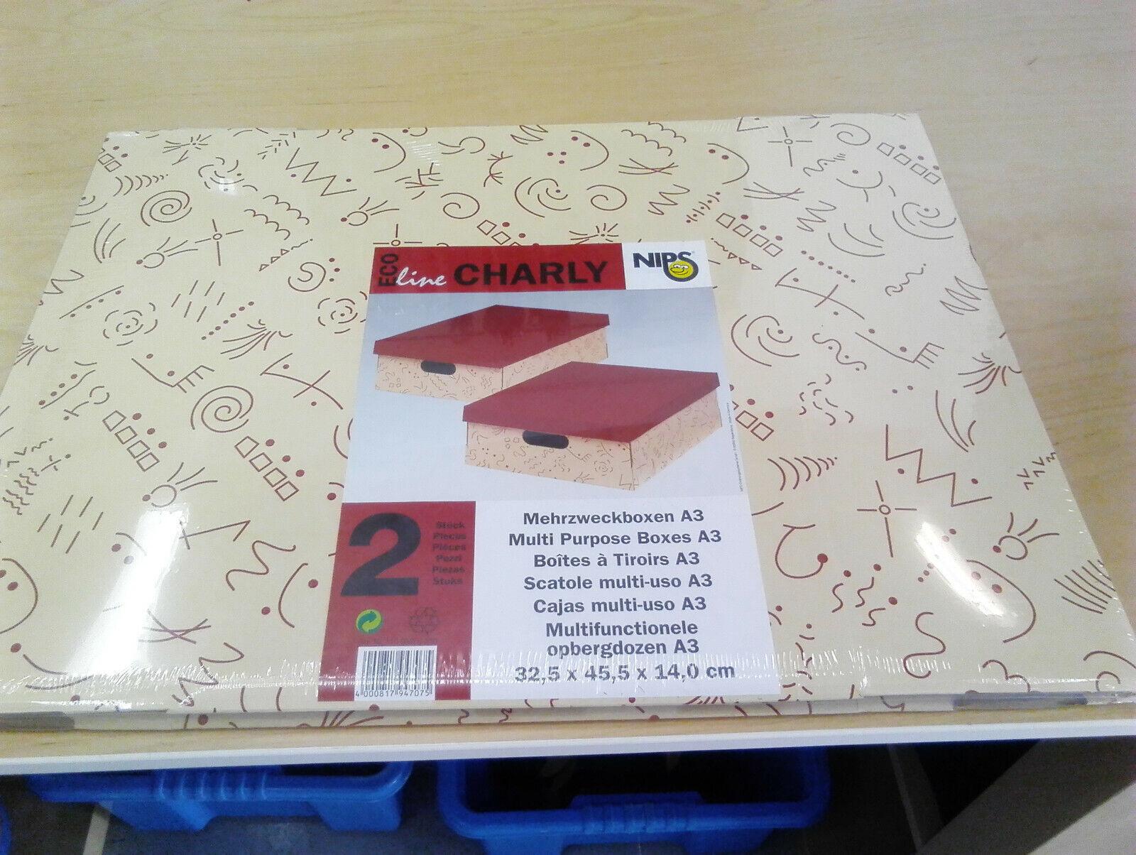 Nips Eco Line Charly MULTIUSO A3 scatole portaoggetti 10X (confezione da 2 32.5x45.5x14CM)