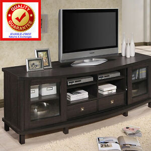 Tv stand entertainment center for flat screens tvs to 55 60 w image is loading tv stand entertainment center for flat screens tvs sciox Image collections