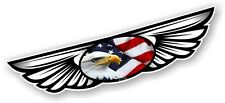 Winged Wing Emblem & American Eagle & US Flag for Motorcycle Helmet Car sticker