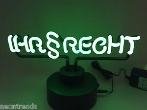 IHR § RECHT Neonleuchte Neon signs Advocat Werbung Steuerberater Reklame news