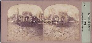 Italia-Pompei-Foto-Po-039-di-Tempo-E-Tournier-Stereo-Vintage-Albumina-Ca-1860