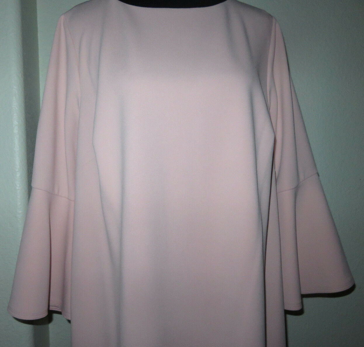 Jessica H bluesh bluesh bluesh Pink Ruffle Bell Sleeve Sheath Dress Size 16W 18W NEW e8f22f