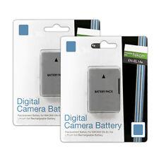 2 EN-EL14a Lithium Ion Battery Packs for Nikon D3300 D3200 D3100 Df