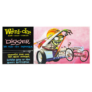 Hawk Model Company Weird-Ohs Digger the Way Out Dragster Monster Model Kit