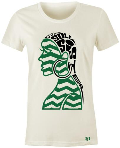 "/""Sole Sister 2 Power/"" Women//Juniors T-Shirt to Match Retro /""Pine Green/"" 1/'s"