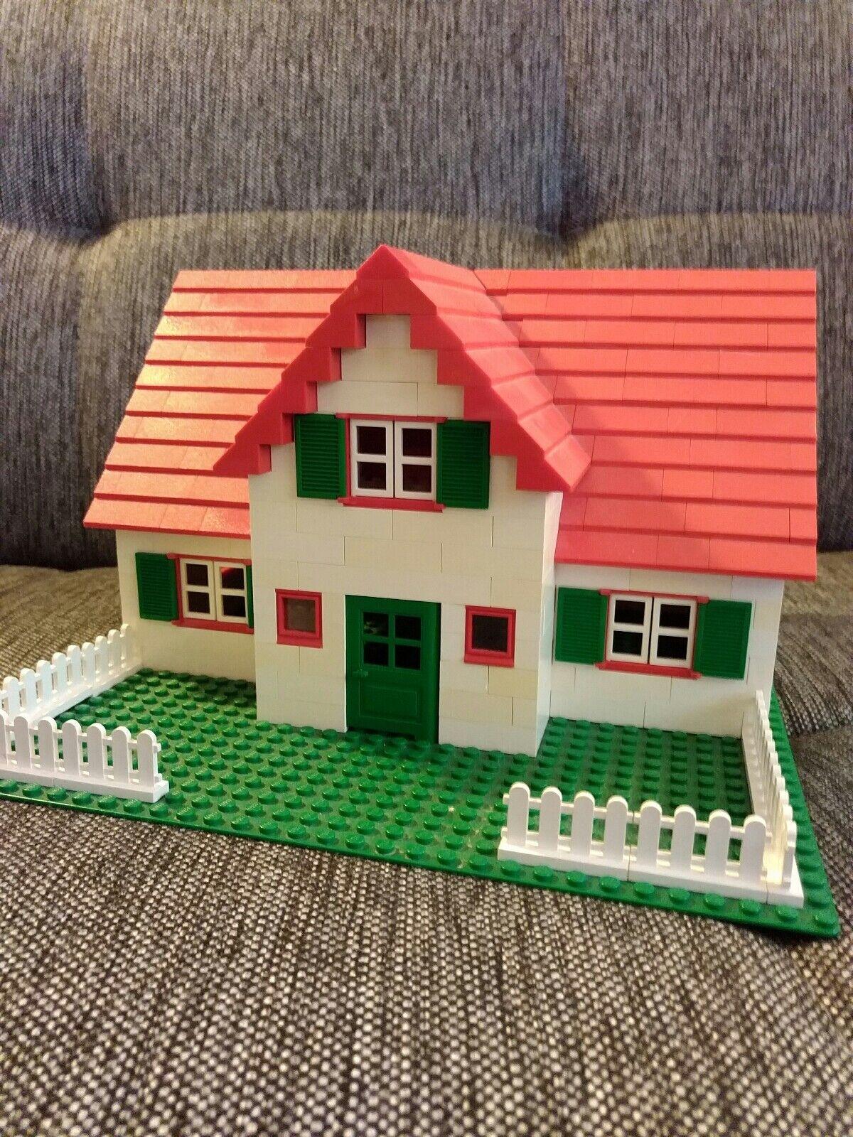 LEGO Haus mit 200 Dachsteinen Fenster Zaun Zaun Zaun Platte Friesenhaus Eigenkreation fe7222