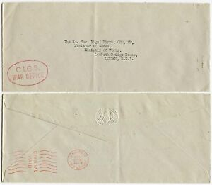 GB OFFICIAL WAR OFFICE METER FRANKING 1955 EMBOSSED ENVELOPE CIGS HANDSTAMP