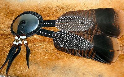 Mountain Man hat decoration re-enactor Pre-1840 rendezvous rosette fur FCF Fur