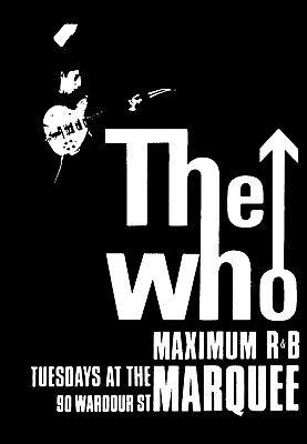 ROCK THE WHO MAXIMUM R/&B MOD A4 PRINT