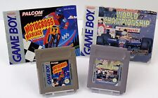 Nintendo Game Boy GB - Motocross Maniacs + Nigel World Championship + Anleitung