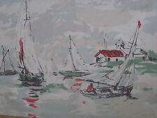 """Cortina De Tela Diseño """"Vela Sanderson distancia"""" 1.7 metros (170 cm) de color verde mar"""
