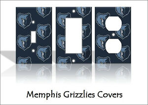 Memphis Grizzlies Light Switch Covers Basketball Nba Home