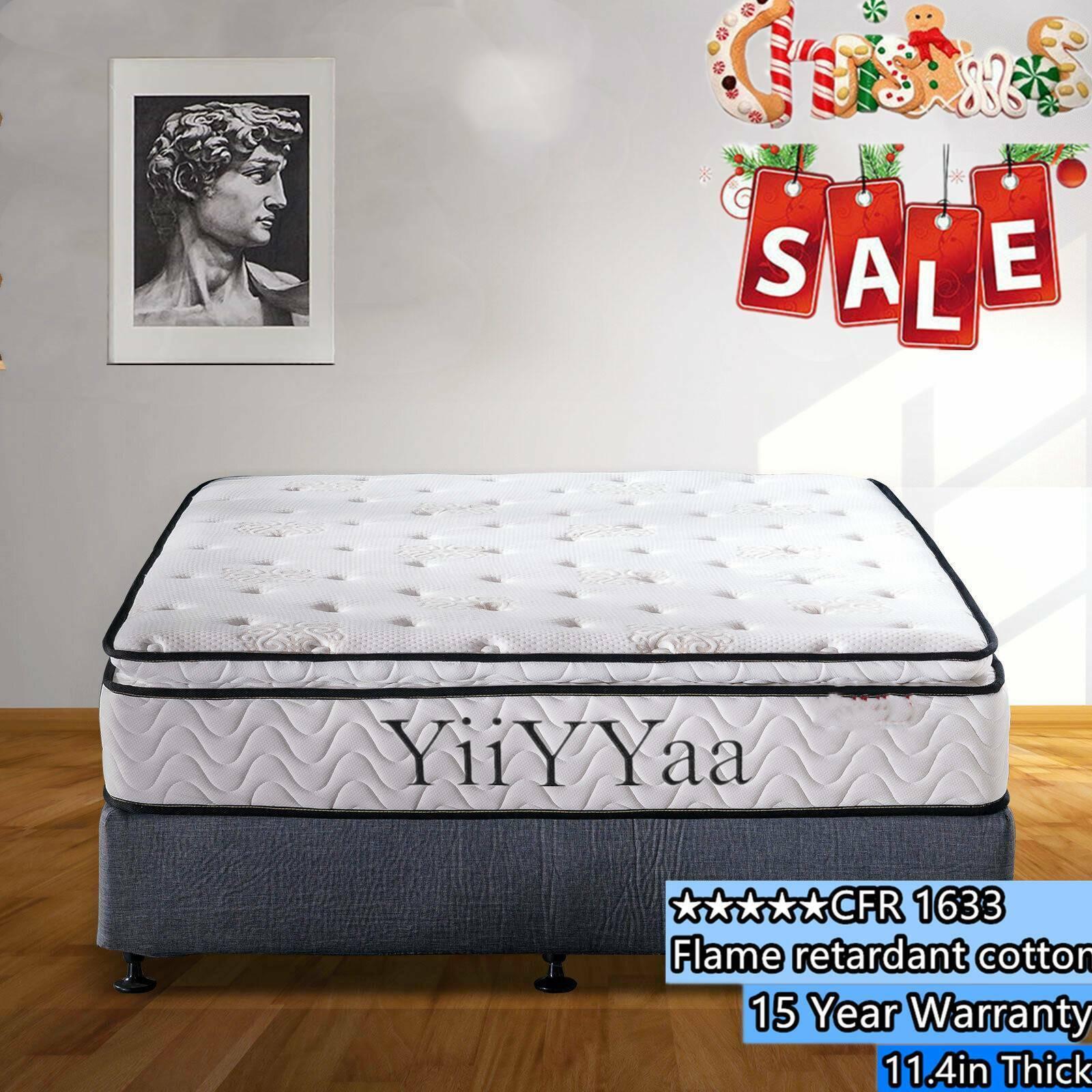 YIIYYAA 11.4 Inch Innerspring Memory Foam Hybrid Mattress -K