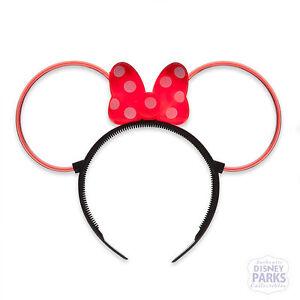 Disney Parks Minnie Mouse Glow Ear Headband Ears Light Up W Bow Ebay