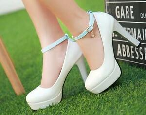 Bracelet 8578 11 Blanc Elegant Decolte Plateau Stiletto Bleu Femme Clair Chaussures Yq0xfvf