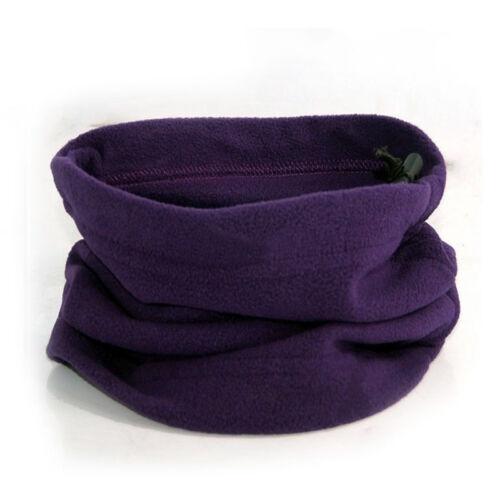 Unisex Snood Neck Winter Warmer Fleece Knitted Pocket Scarf Scarves Shawl Cowl