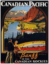 TR89 Vintage Canadian Pacific Railway Poster A3 A2 A1