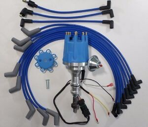 FORD 351 W Windsor Small Cap Pro Series HEI Distributor & 8mm Spark ...