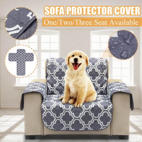 1//2//3 Seat Waterproof Pet Dog Cat Sofa Slip Cover Furniture Couch Protector Mat
