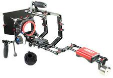 FILMCITY DSLR Telecamera GABBIA SHOULDER RIG KIT (FC-03) + MATTE BOX + f-focus HS-2