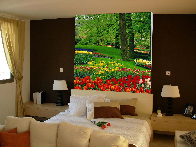 3D rot Tulips Trees 7 Wall Paper Murals Wall Print Wall Wallpaper Mural AU Kyra