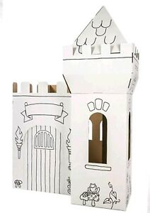 🌟🏰NEW BOX CREATIONS MEDIEVAL CASTLE CARDBOARD COLORING PLAY HOUSE ...