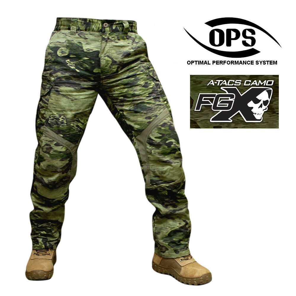 O.P.S STEALTH WARRIOR PANTS IN A-TACS FGX,  NYCO EXTREME, SOFT KNEE PADS INSERT  free and fast delivery available