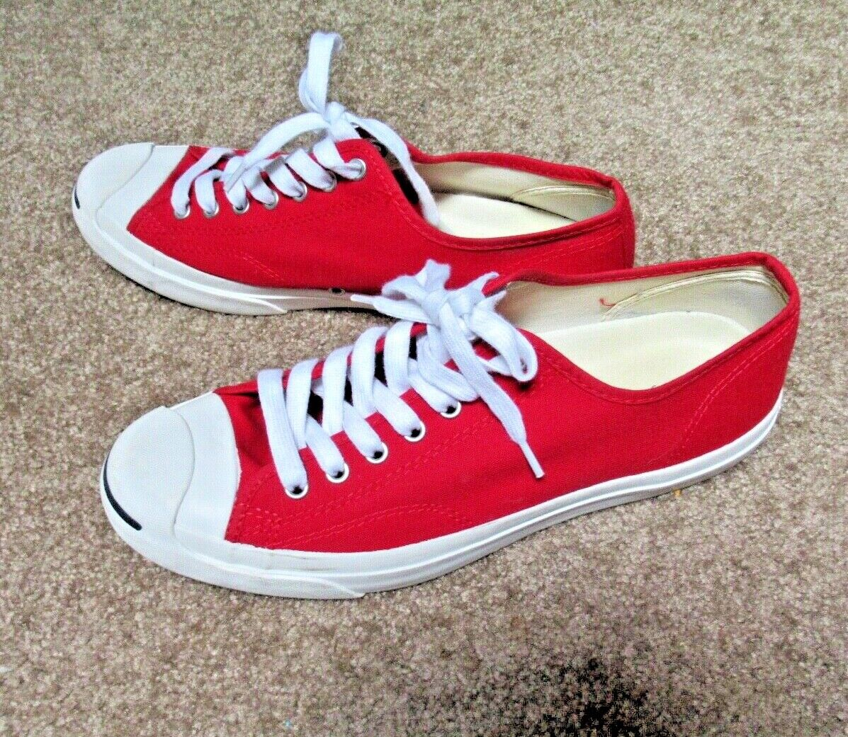 ~~VINTAGE 90's Dead Stock Red Canvas JACK PURCELL… - image 5