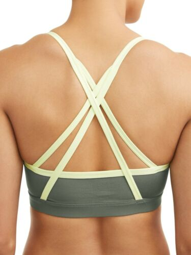 16-18 Teal Tundra Yello Athletic Works Women/'s Strappy Back Sports Bra X-Large