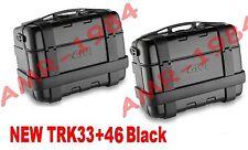 KIT 2 VALIGIE TREKKER BLACK 33 + 46 LATERALI GIVI TREKKER TRK33 + TRK46  BLACK
