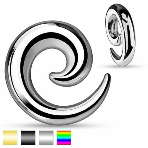 Piercing écarteur d/'oreille spirale