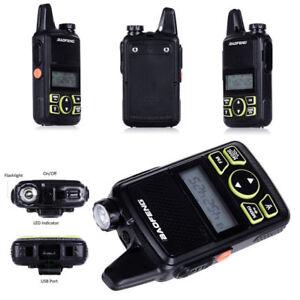 2pcs Walkie Talkie BF-T1 MINI Radio UHF 400-470MHz FM Transceiver+PTT Earpiece L