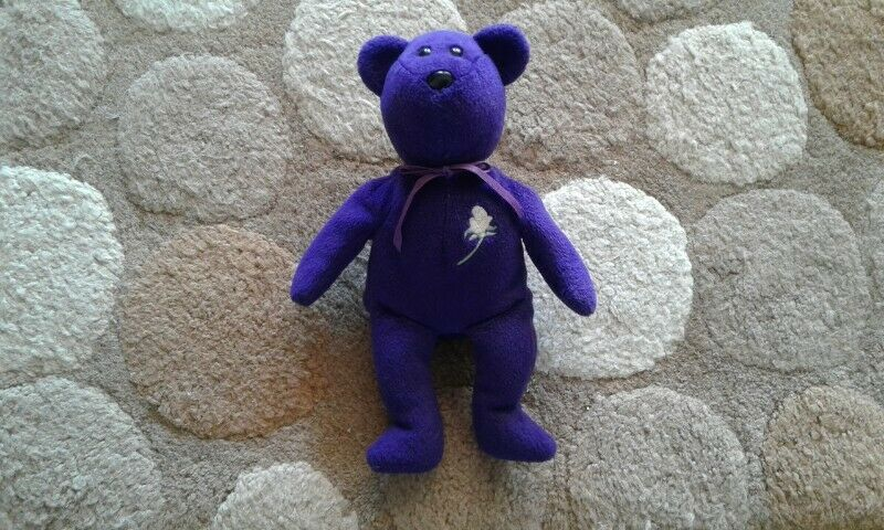 Retired Ty Beanie Baby Princess Diana Bear PE Pellets 1997 for sale