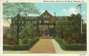 Pittsburgh-Western-Pennsylvania-School-for-the-Blind-1940-Postcard