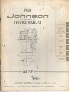 1968 johnson outboard motor 65 hp service manual ebay rh ebay com Johnson Outboard Motor Serial Numbers Johnson Outboard Motor Serial Numbers