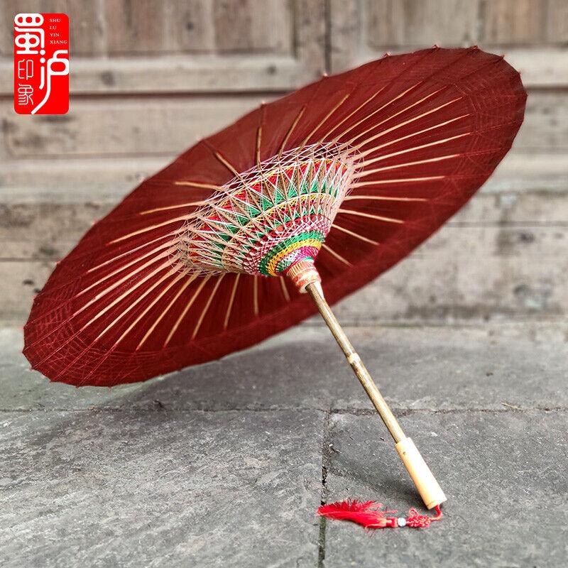 Rainproof Oil Paper Umbrella Shop Wedding Art Decoration Parasol Gifts Chinese