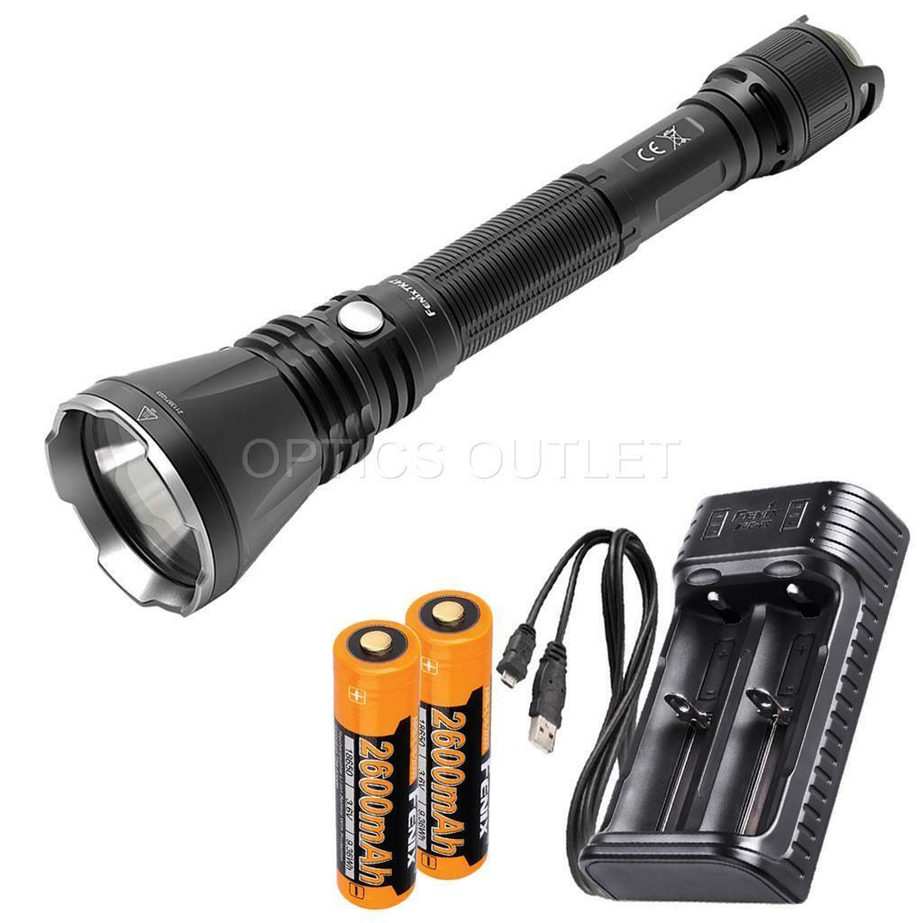 Fenix TK47 1300 Lumen 766 766 766 Yard Neutral Weiß LED Flashlight w/ 2x 18650, Charger ee4481