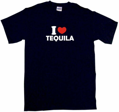 I Heart Love Tequila Mens Tee Shirt Pick Size Color Small-6XL