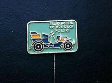 VINTAGE- PIN - BADGE - SAMOCHODEM PO DROGACH - car club - Poland