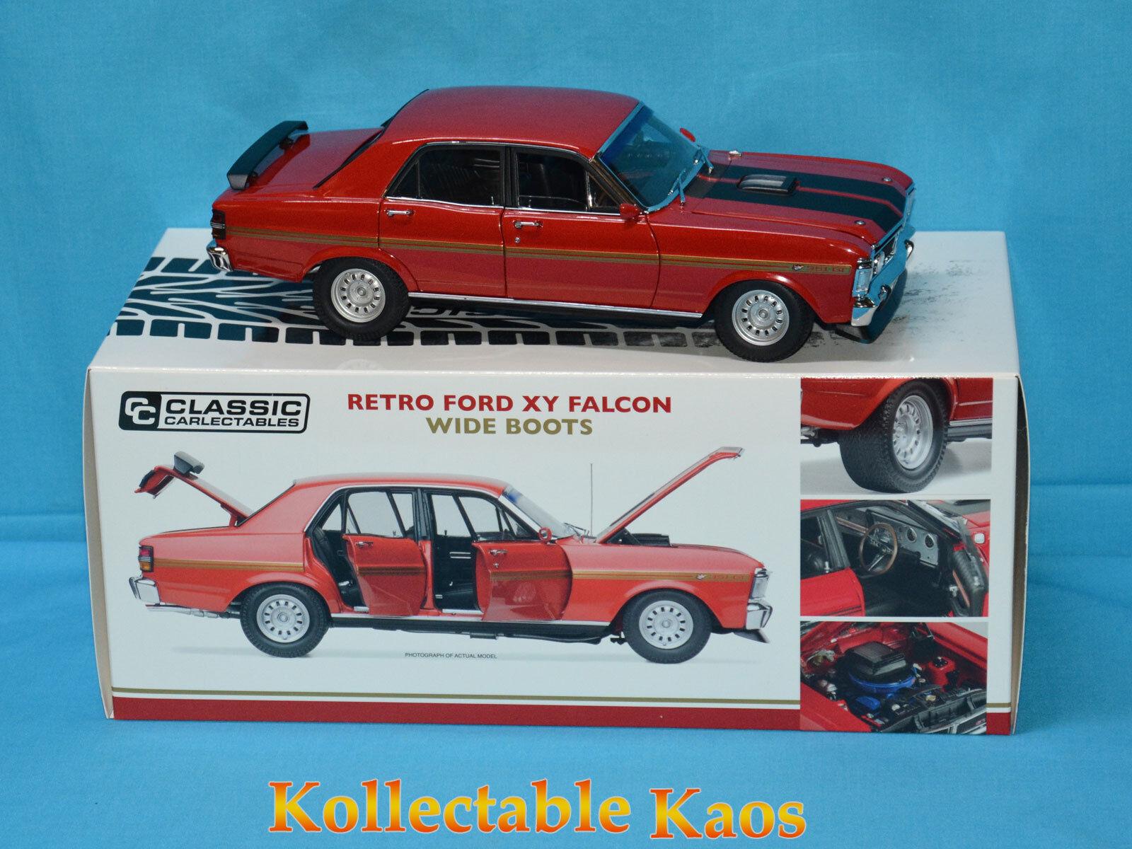 1 18 Classics - Retro Ford XY Falcon GT-HO Phase III - Red