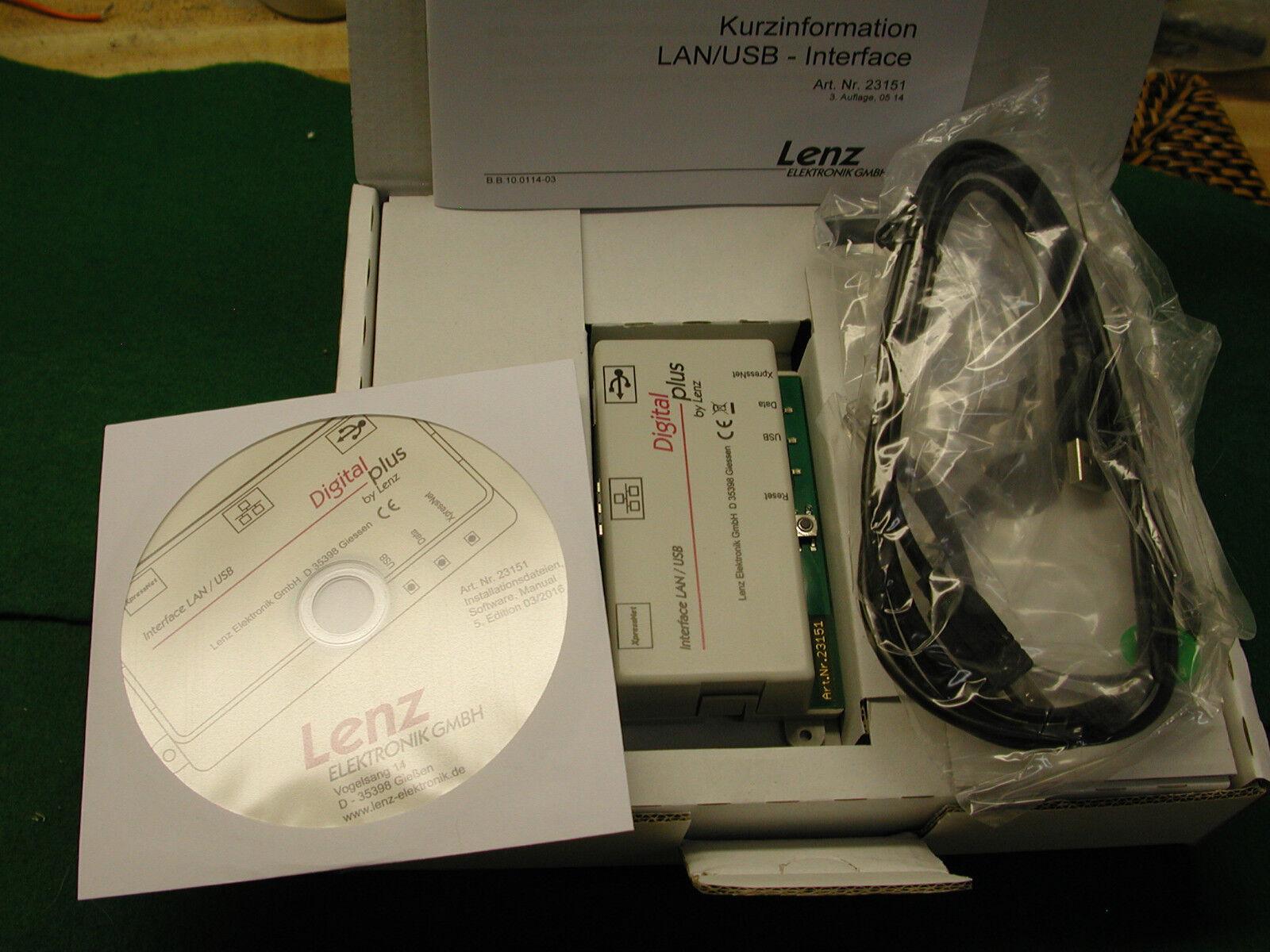 Lenz DCC Ordinateur Interface Module L  _ USB_Ethernet 23151 Usine Neuf